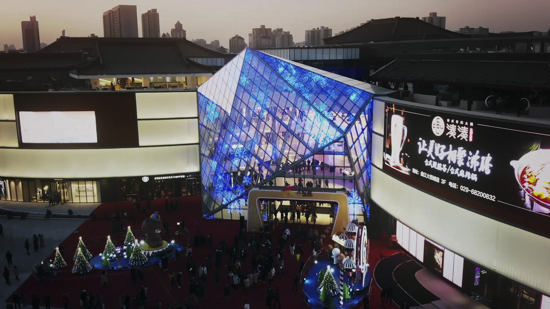 Architectural-grade LED glass, GLAAM Media Glass (G-Glass) featured at Xian Joy City, Xian, China