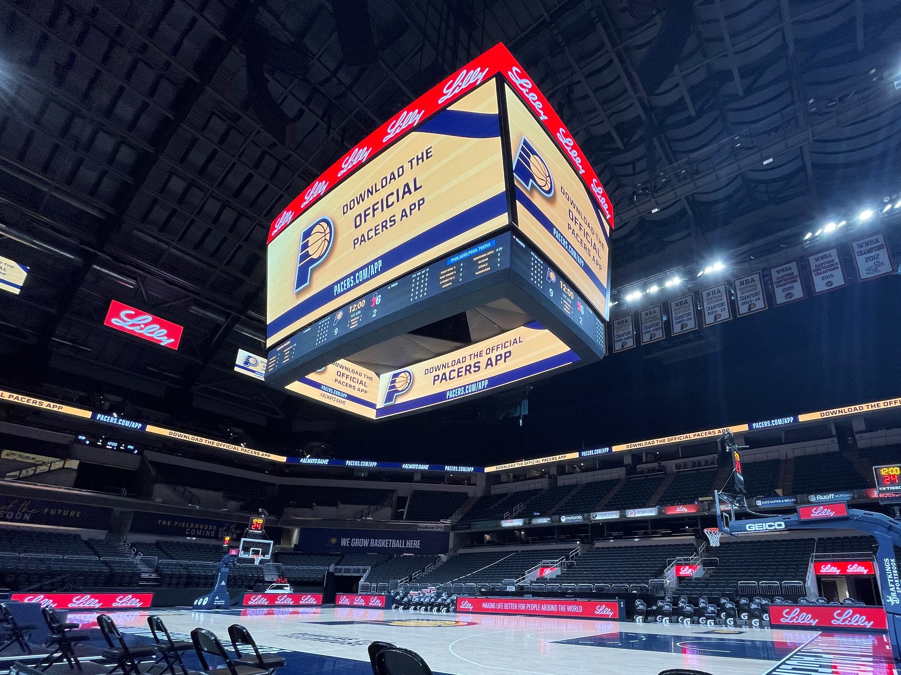 Bankers Life Fieldhouse, Phase 1 Renovations