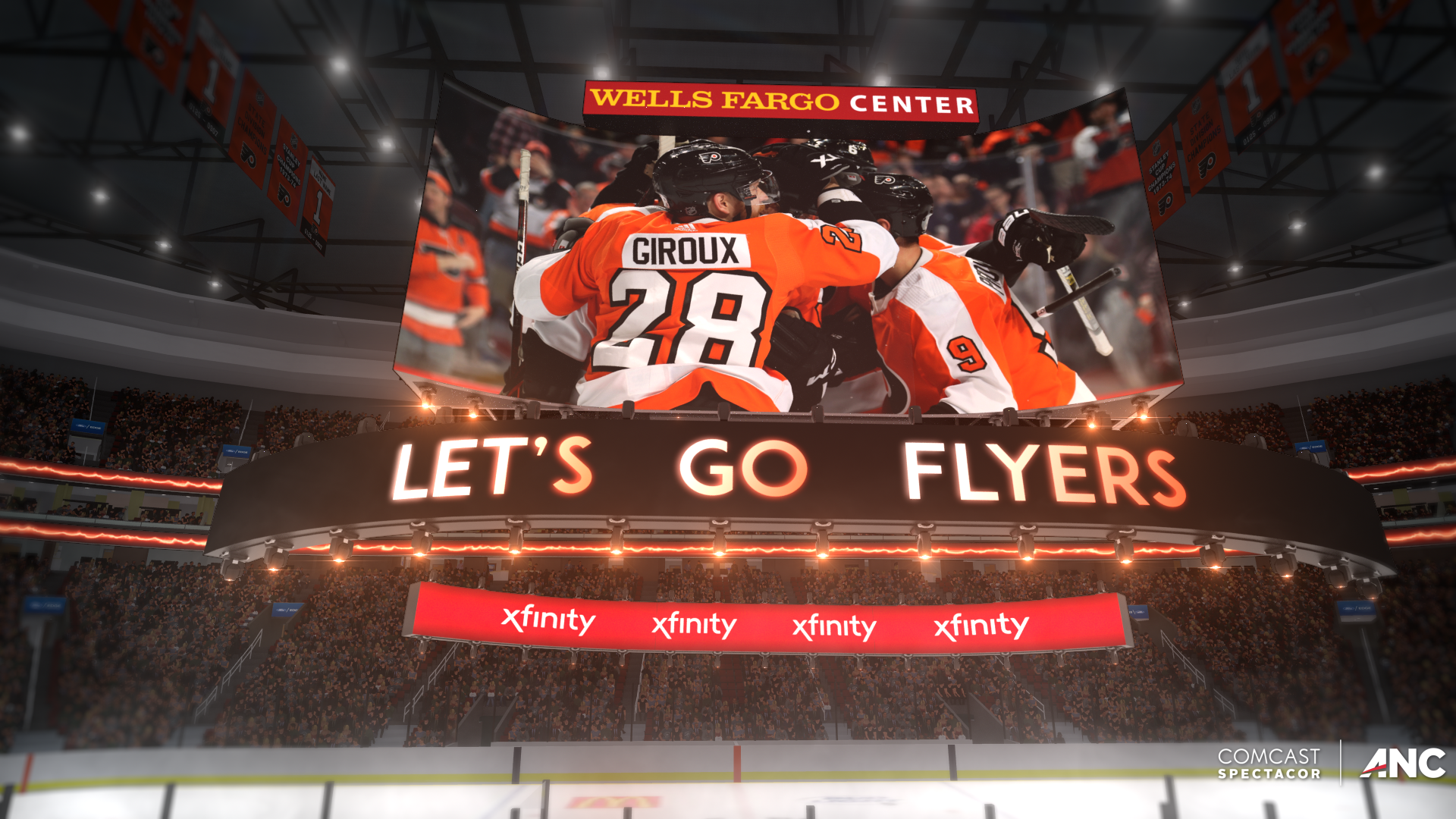 At the Rink: Philadelphia Flyers Flex Potential of Multi-Directional U.S. Patented 4K Kinetic Centerhung as Fans Return to Wells Fargo Center - Game pres team experimenting with new looks and effects for board that debuted in 2019