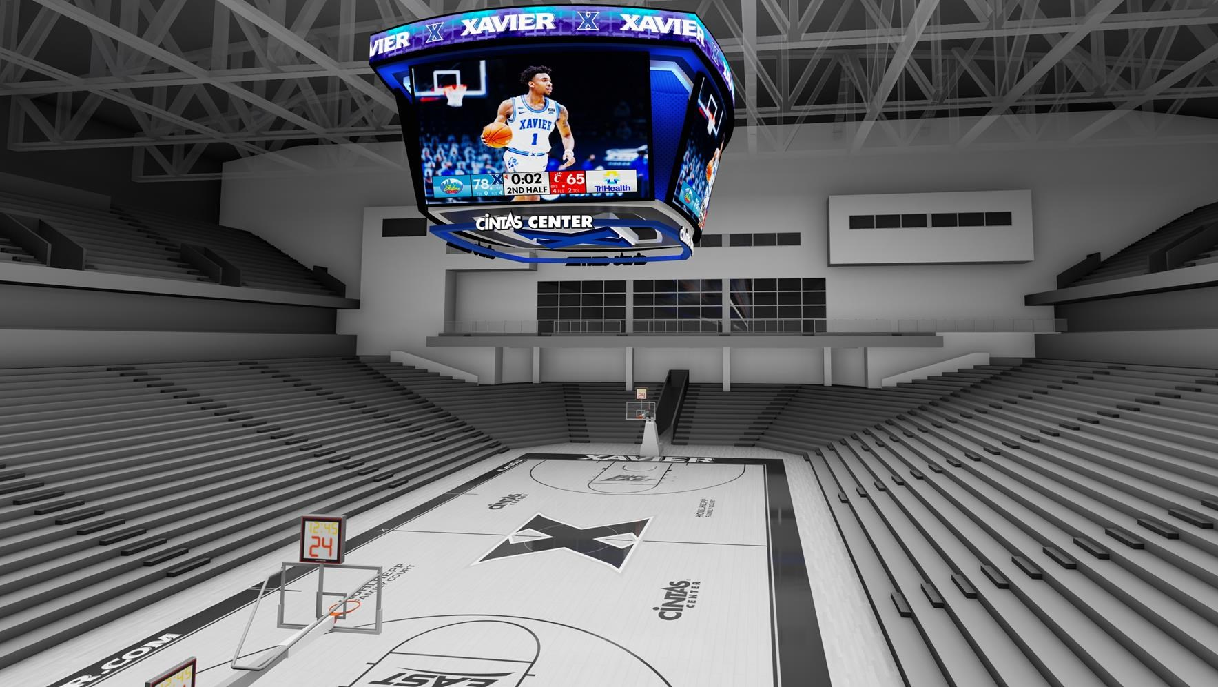 Xavier unveils $3 million project to add a new scoreboard, upgrade Cintas Center technology