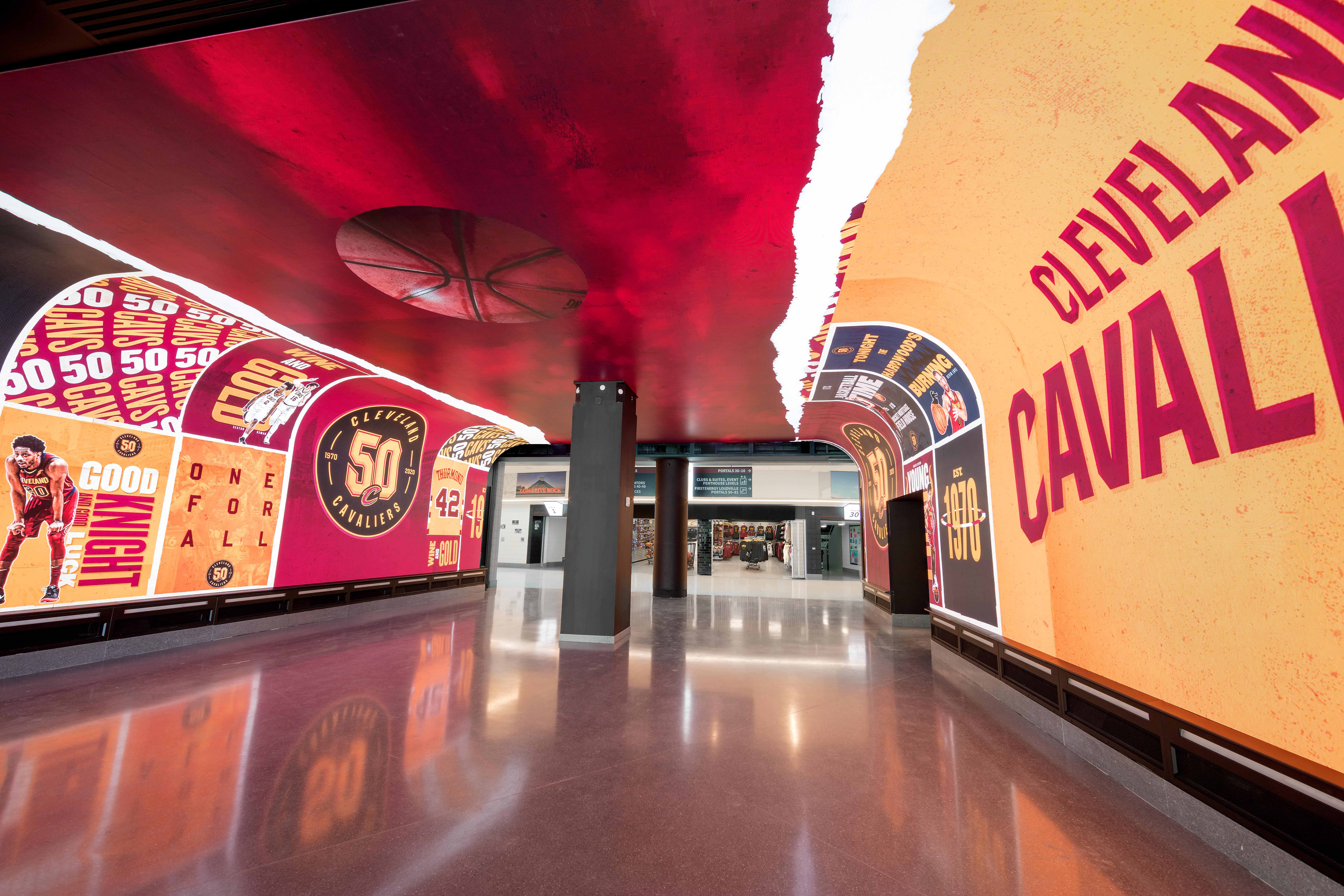 Immersive Fan Experiences - LED Power Portal. Credit: Cleveland Cavaliers Norm Trepal Photography