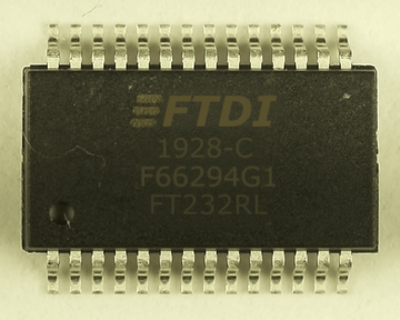 Image of counterfeited chip with font issue