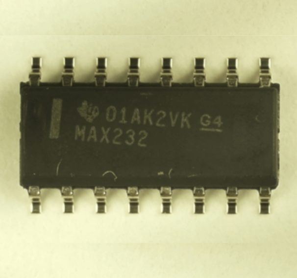 Image of chip with misaligned text