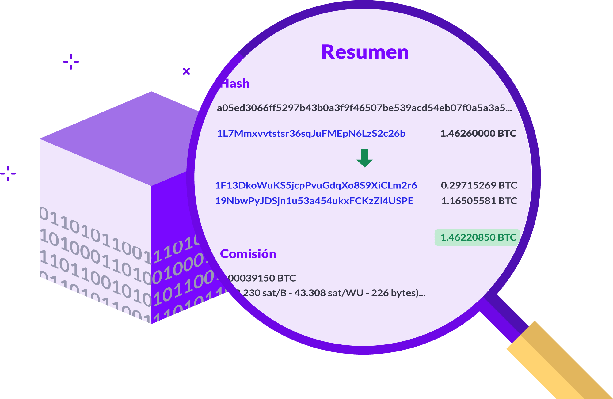 Cómo se explora la blockchain