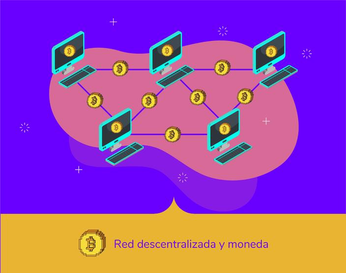 Bitcoin es una red descentralizada y distribuida