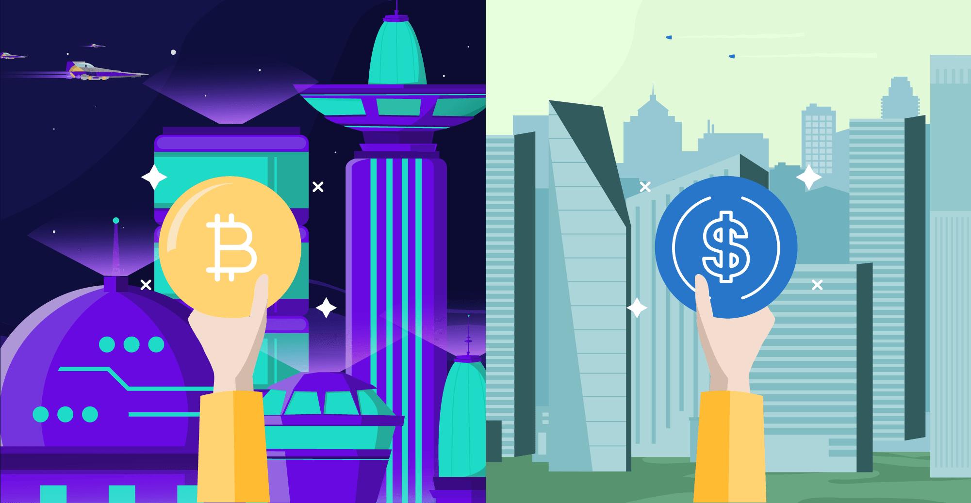 Bitcoin vs stablecoins