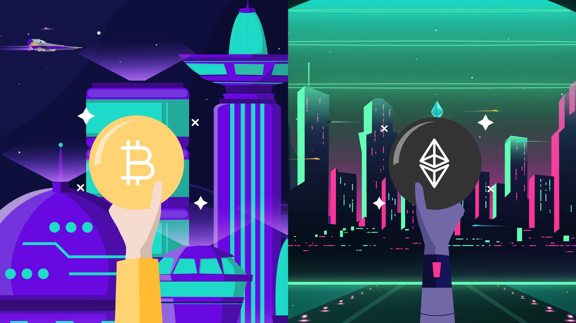 Diferencias entre Bitcoin y Ethereum