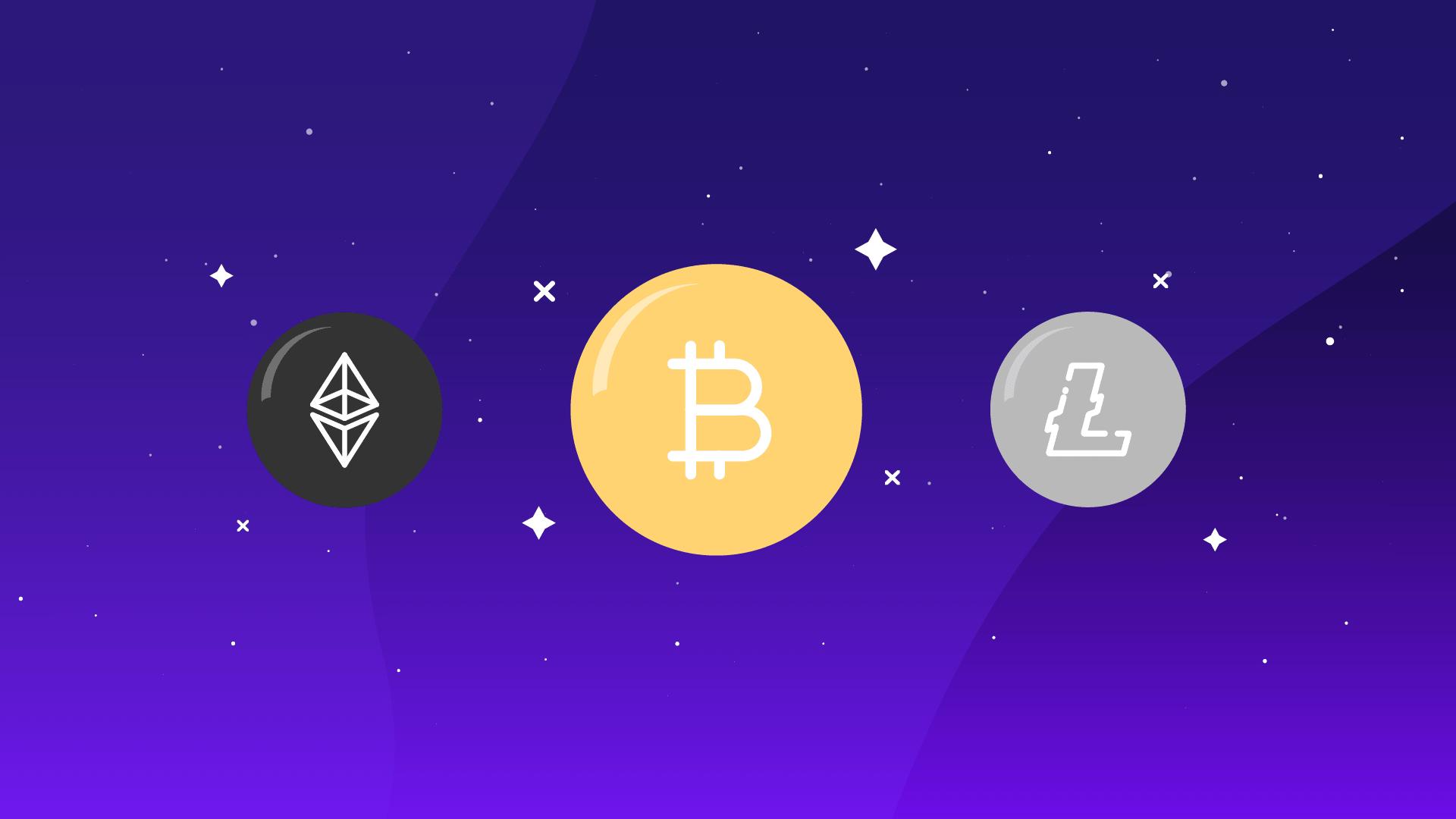 Ethereum, Bitcoin y Litecoin, diferencias y similitudes