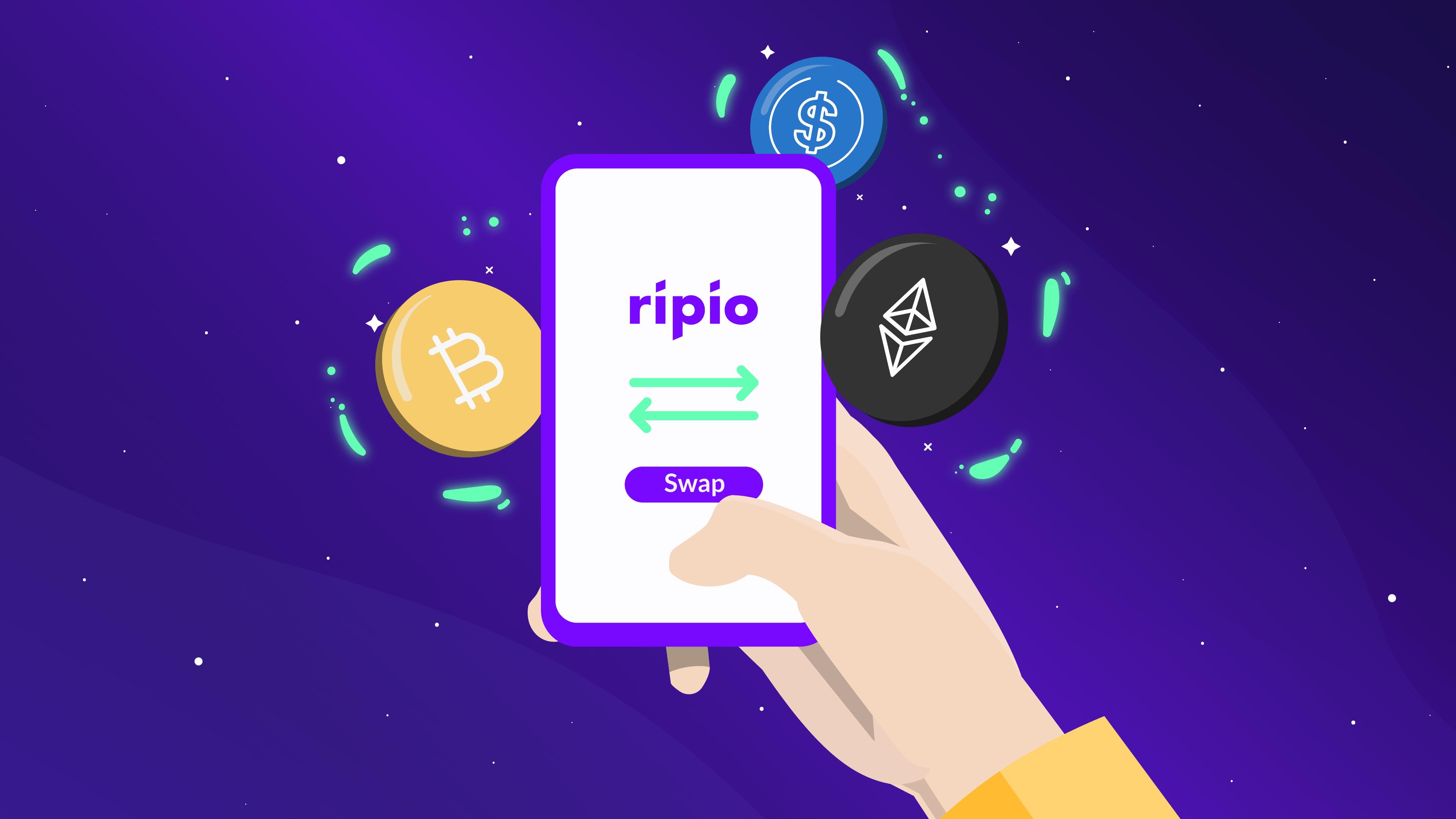 Swap de criptomonedas en la app de Ripio