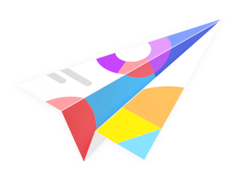 Abstract rainbow shape