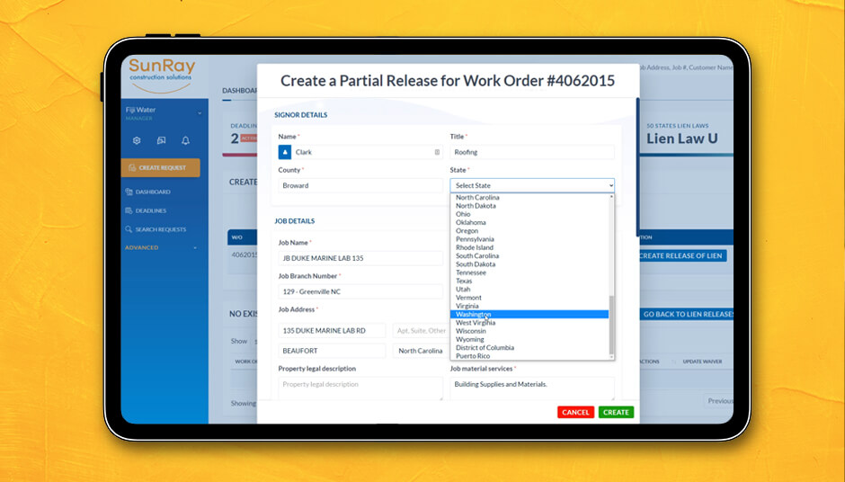 SunRay provides Free Waivers and Releases