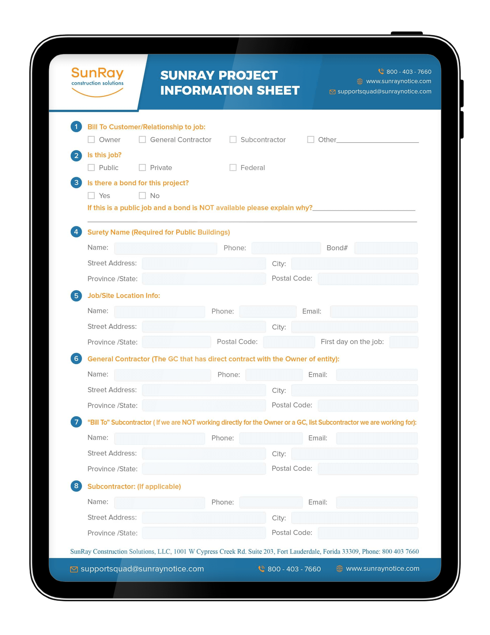 SunRay Project Information Sheet
