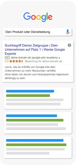 google search mockup