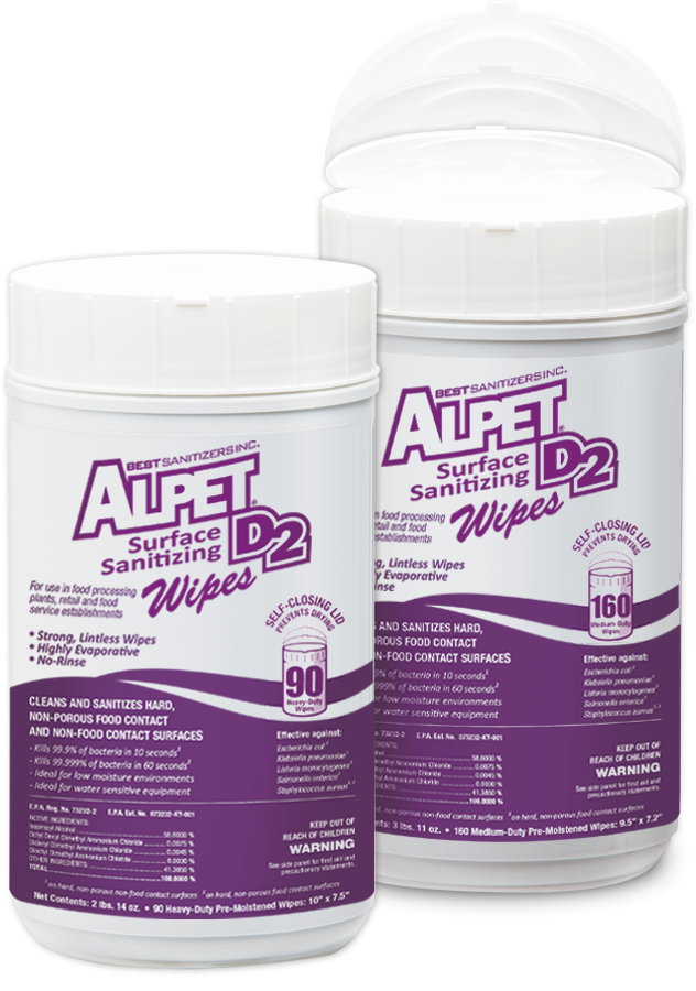 Alpet D2 Surface Sanitizing Wipes