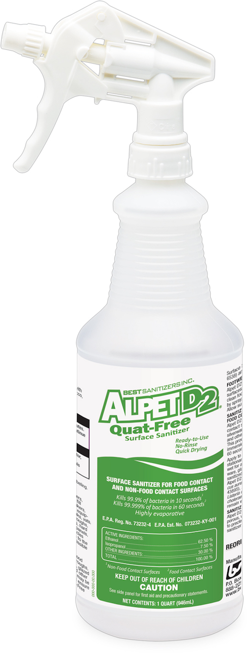 Alpet D2 Quat-Free Surface Sanitizer Spray