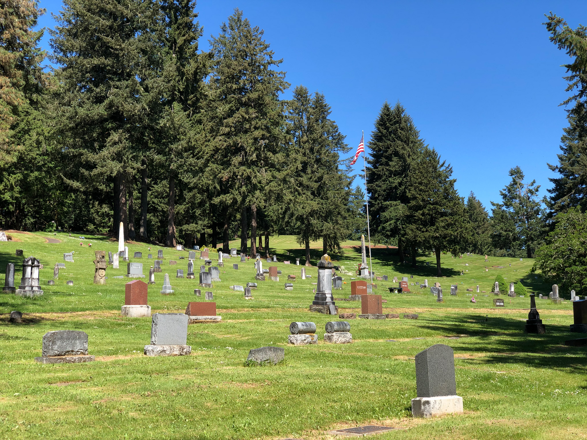 graves at fir grove cemetery