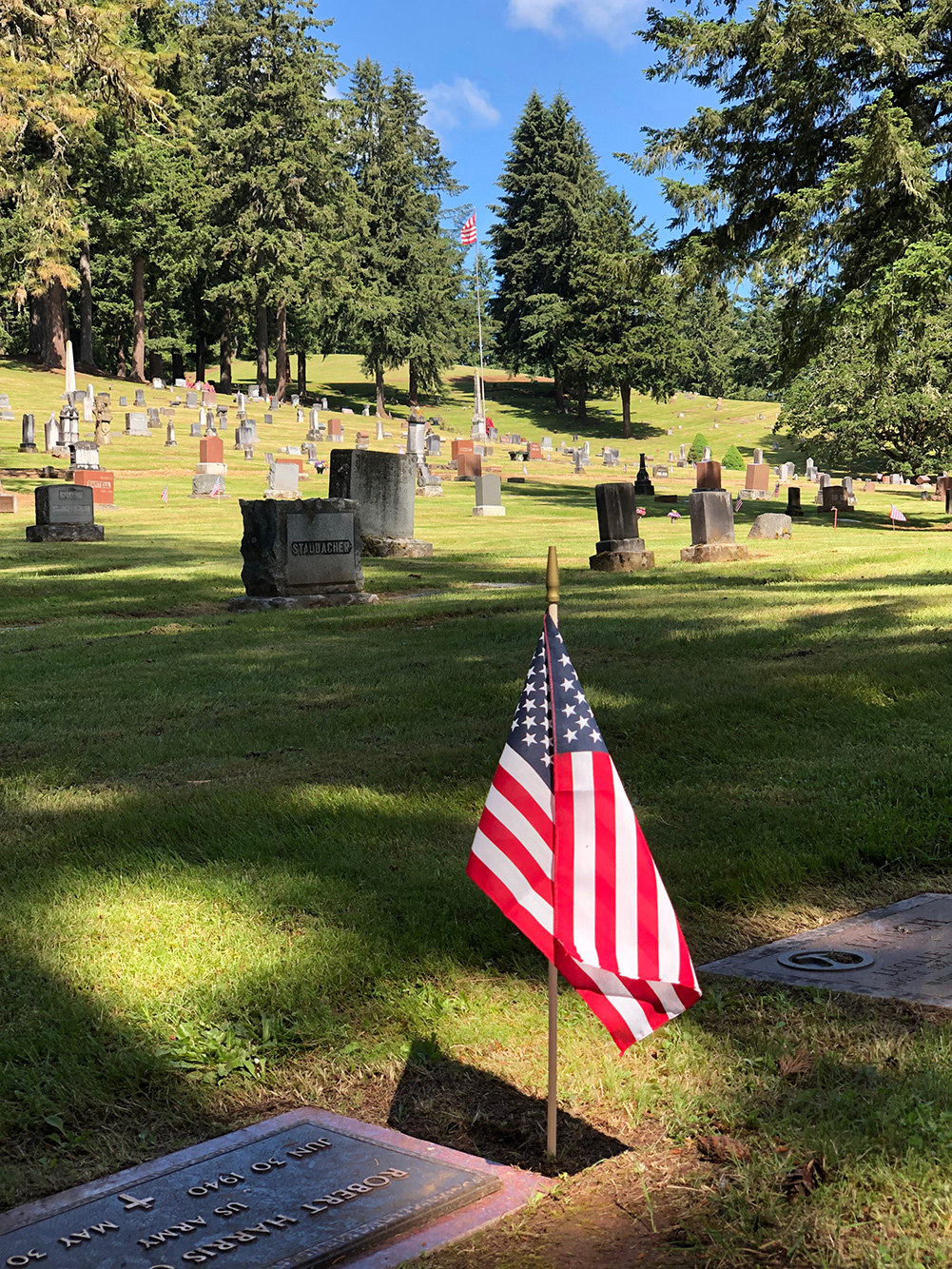 flag at fir grove cemetery