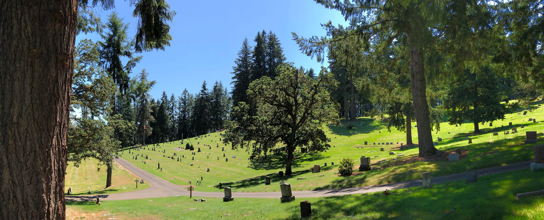 fir grove cemetery looking southwest
