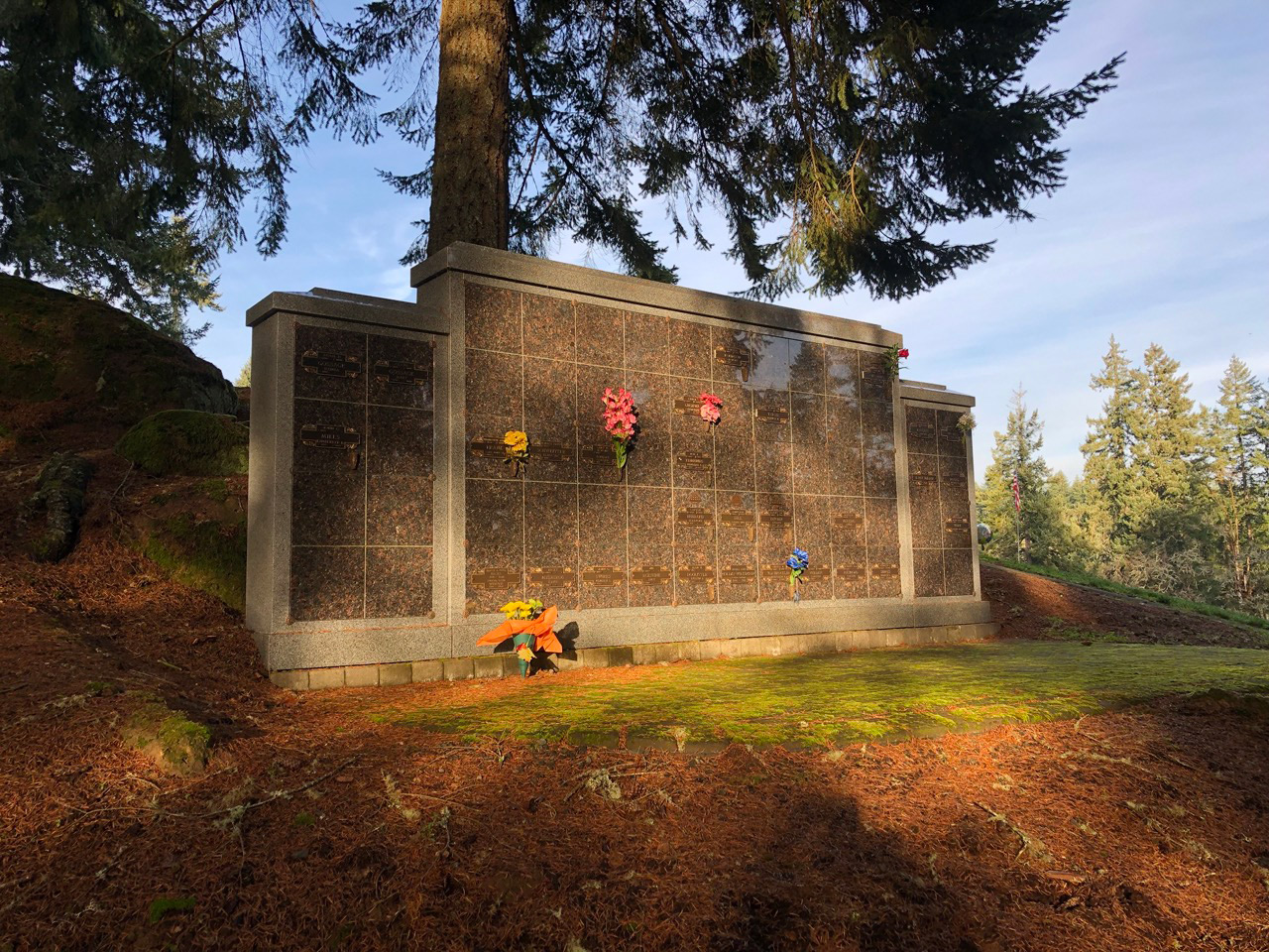 a columbaria at fir grove cemetery