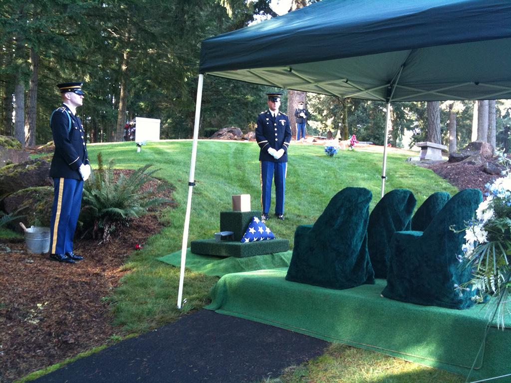 A military burial at fir grove cemetery