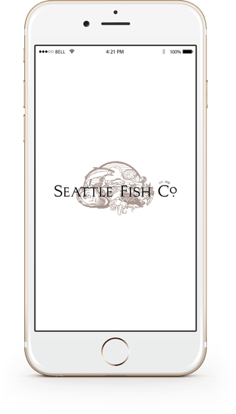 Seattle Fish Company Mobile App Home Screen