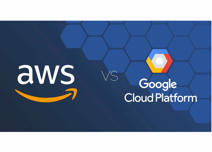 AWS logo and Google Cloud Logo