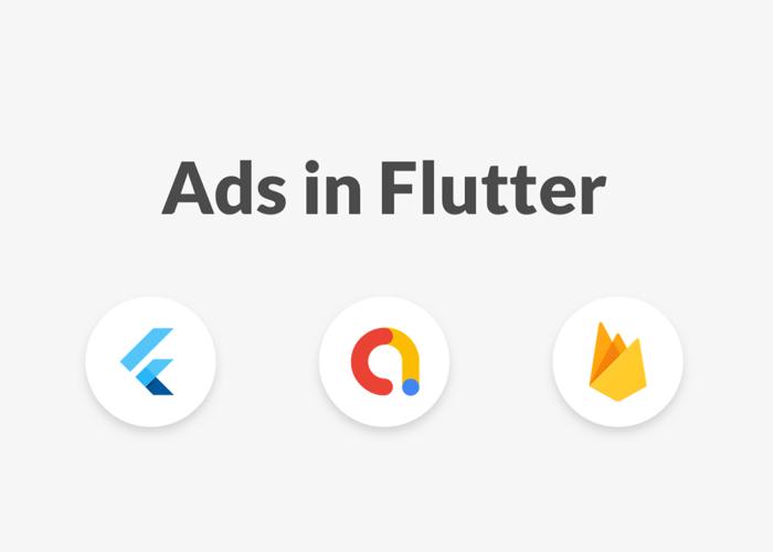 Flutter, AdMob, and Firebase Logos
