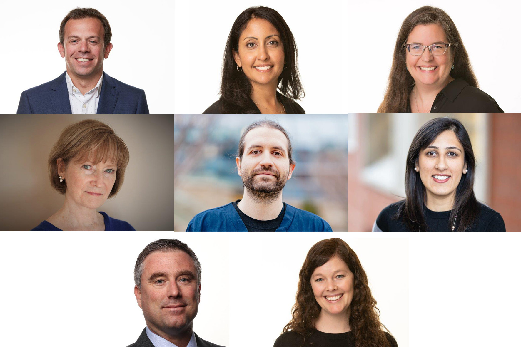 A collage of researchers honoured at gala
