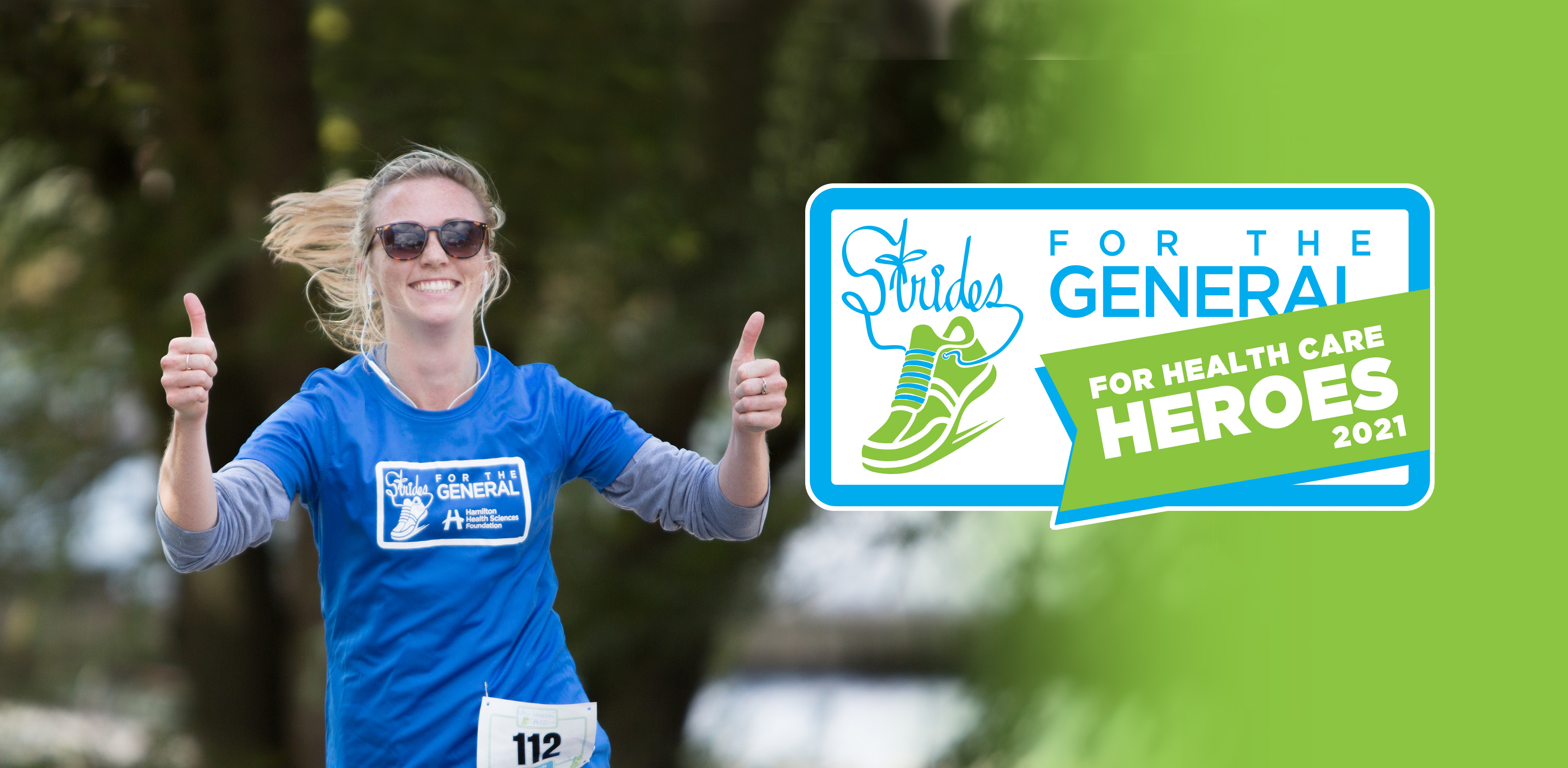 Strides header with runner and logo