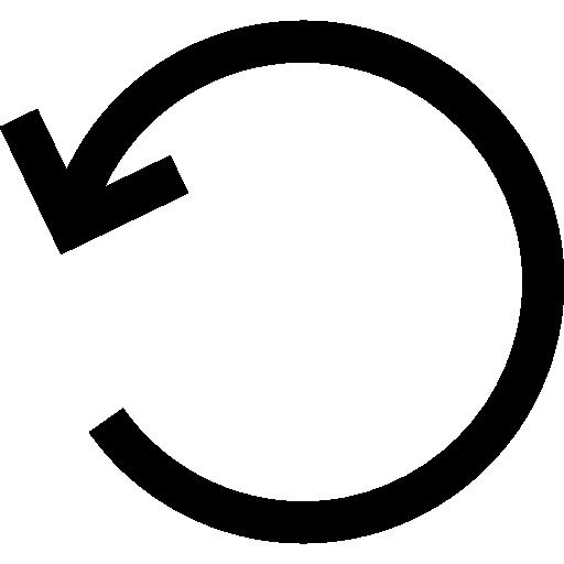 Rotate left circular arrow interface symbol