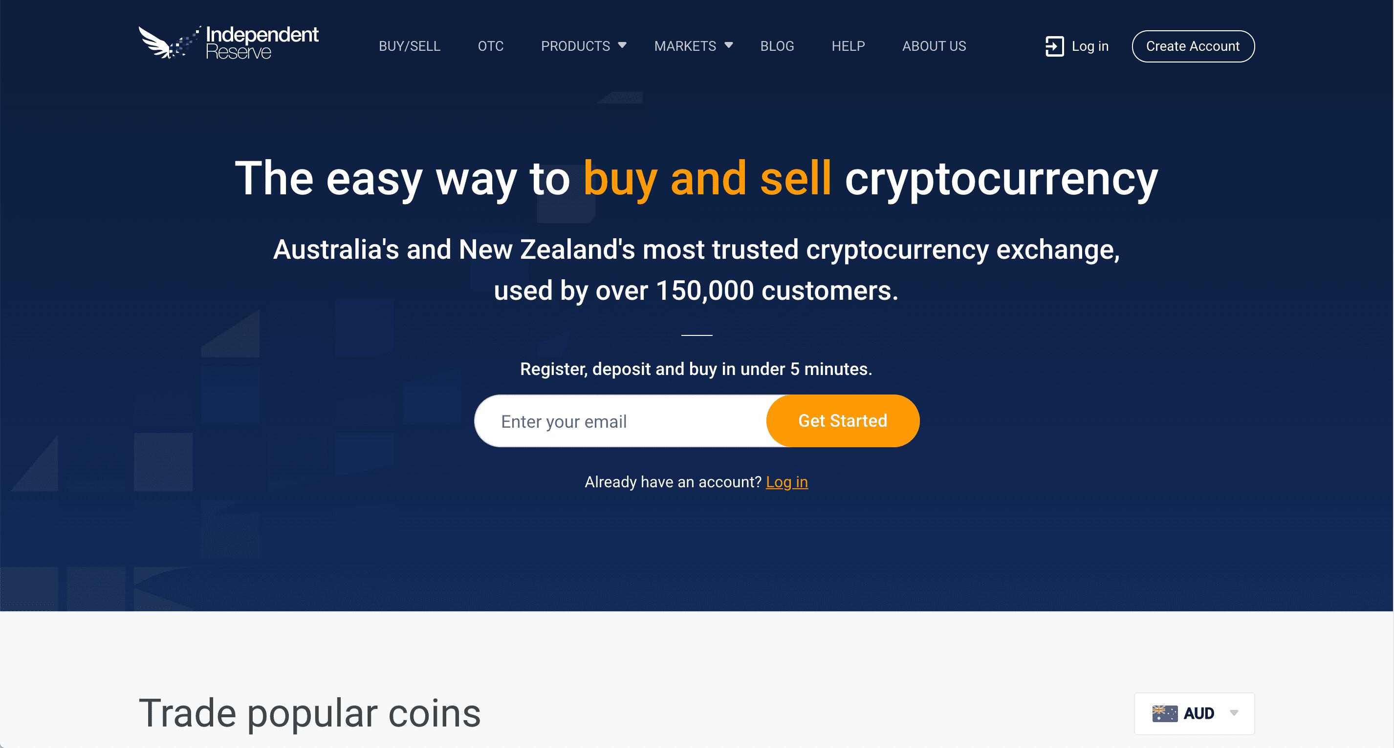 Independent Reserve - New Zealand Cryptocurrency Exchange