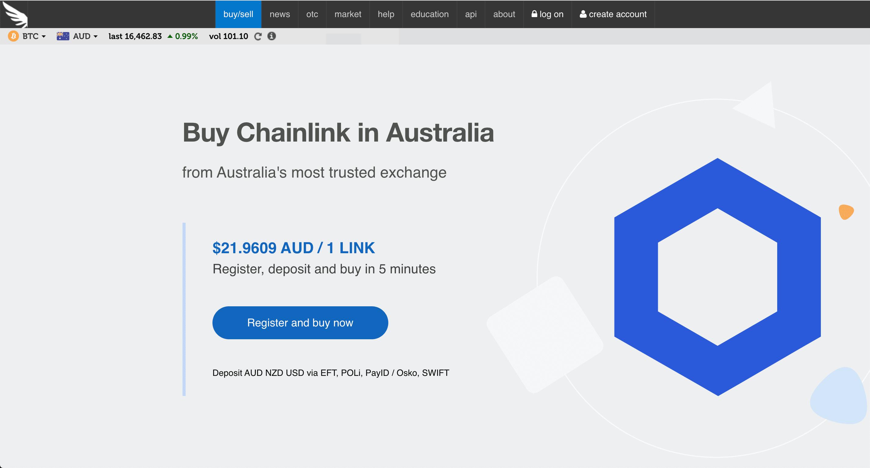 Buy Chainlink Australia - Independent Reserve