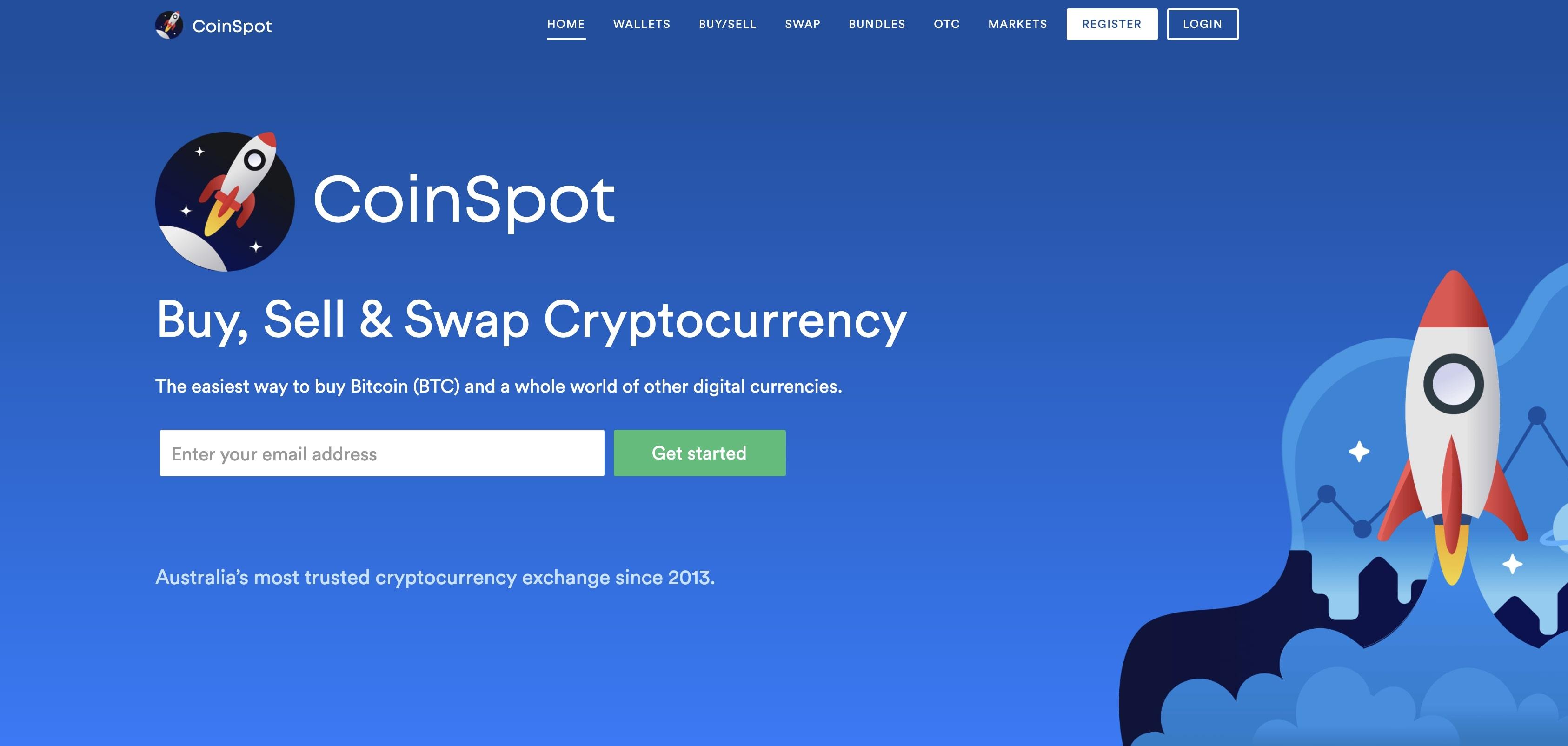 CoinSpot login screen