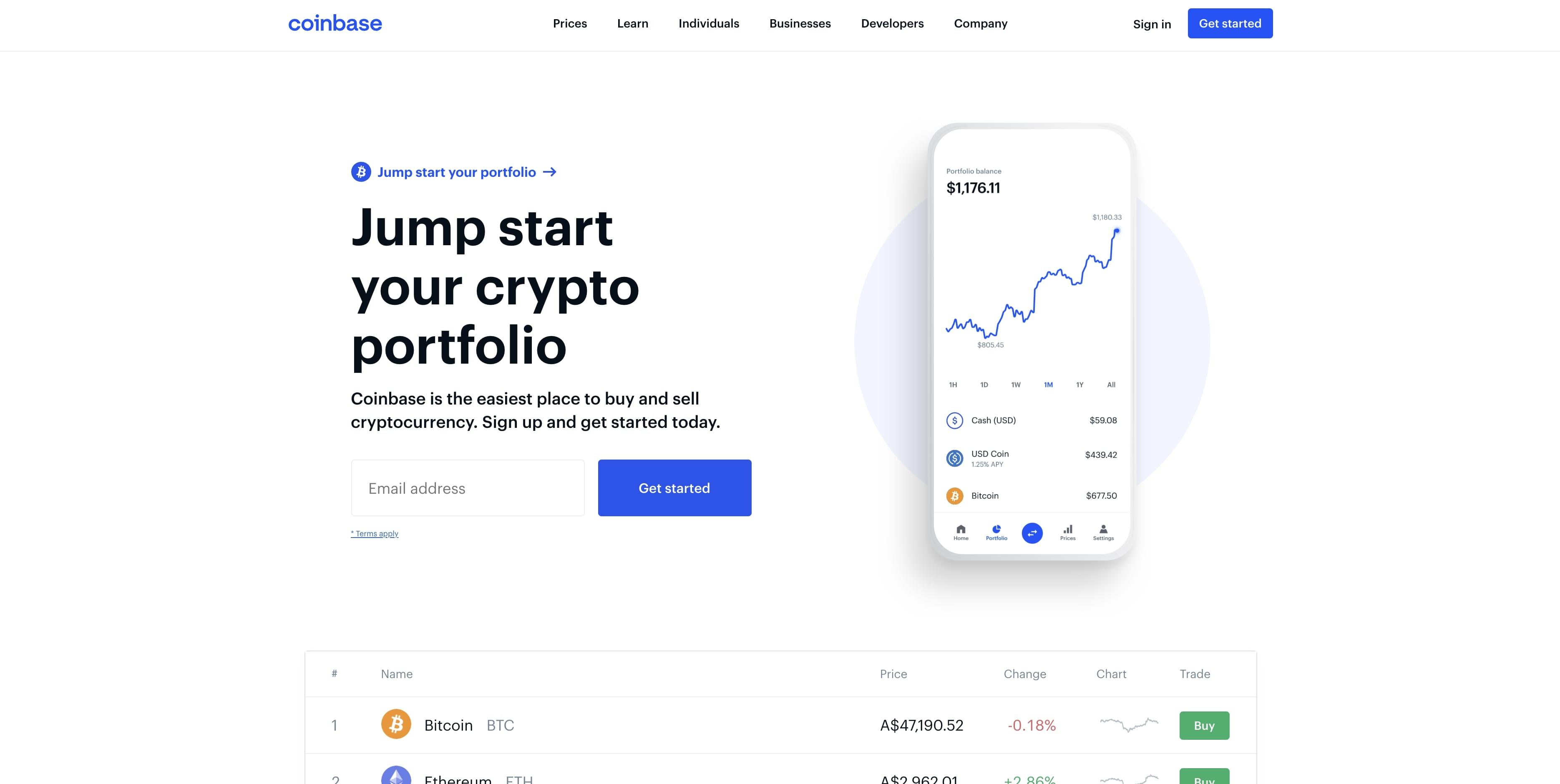 Coinbase Australia trading platform