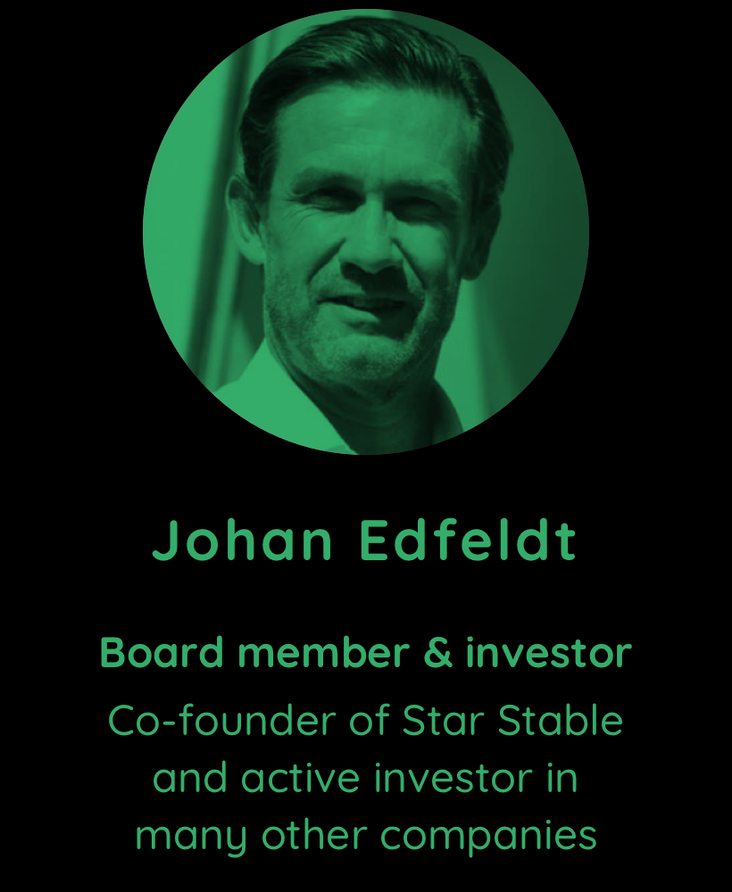 Johan Edfeldt, board member and investor