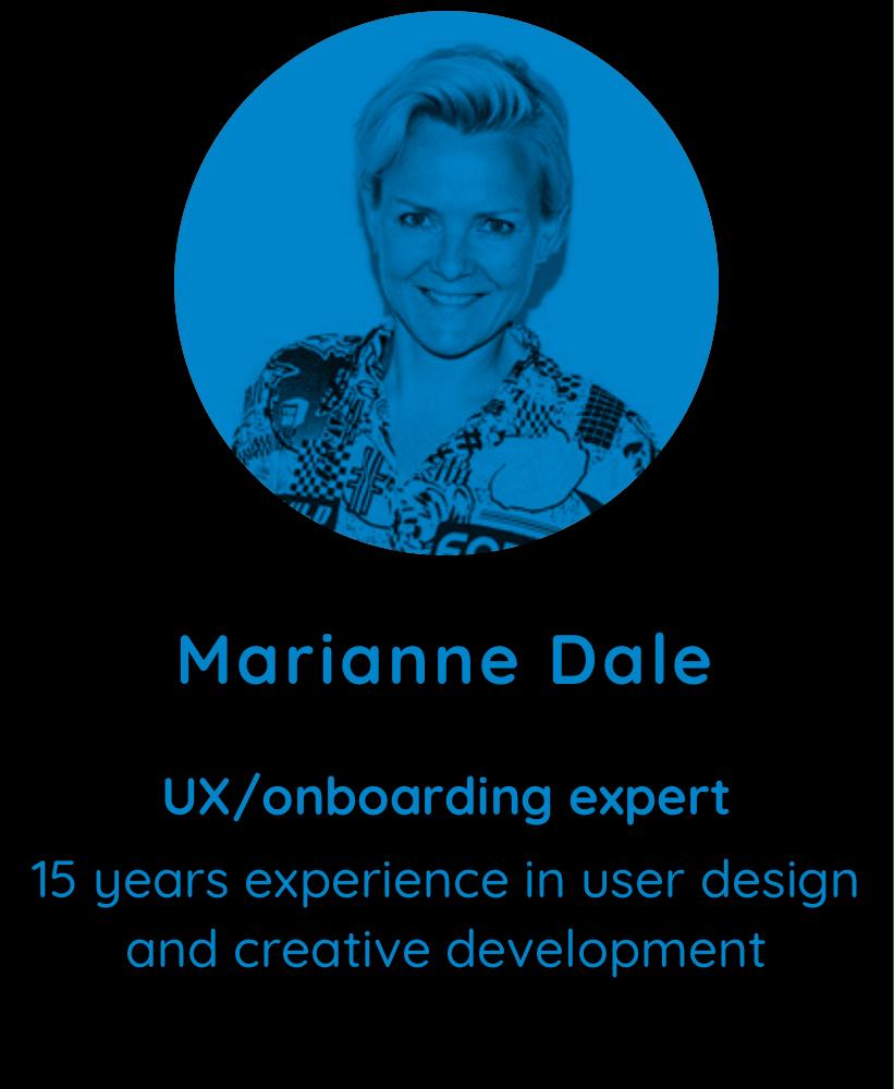 Marianne Dale, UX/onboarding expert