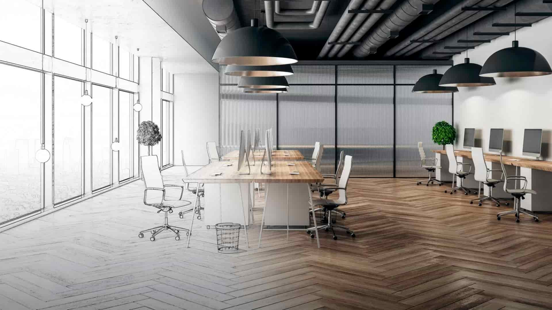 What do office interior designers help you with