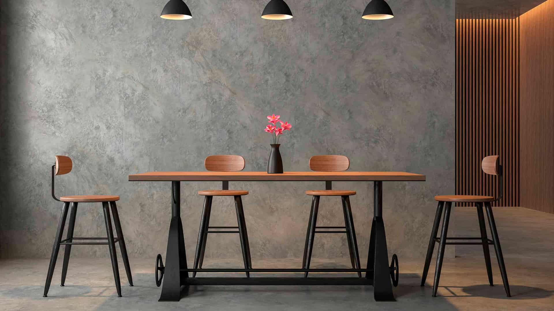 Wood and Metal Furniture