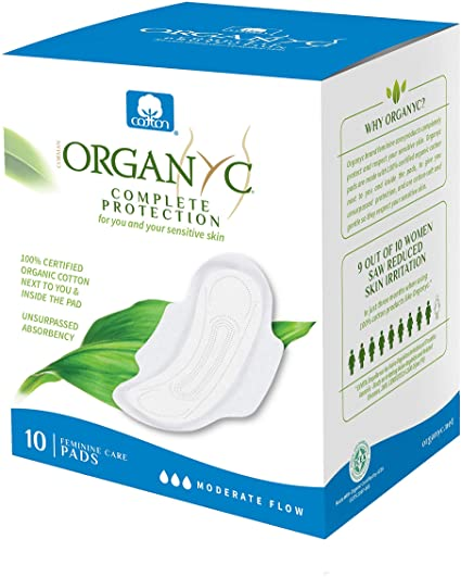 Amazon.com: Organyc 100% Certified Organic Cotton Feminine Pads ...