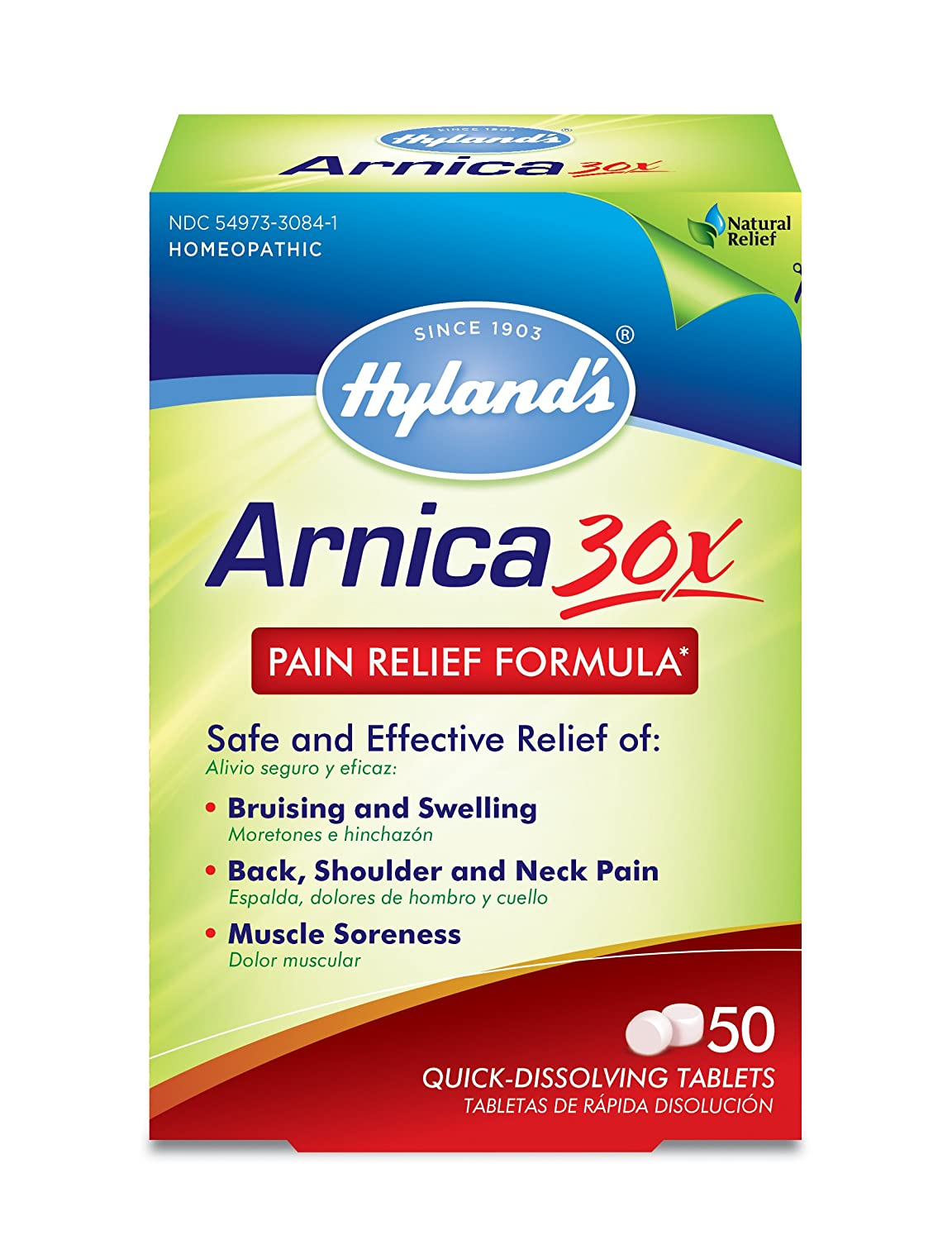Amazon.com: Arnica Montana 30x Tablets by Hyland's, Natural Relief ...