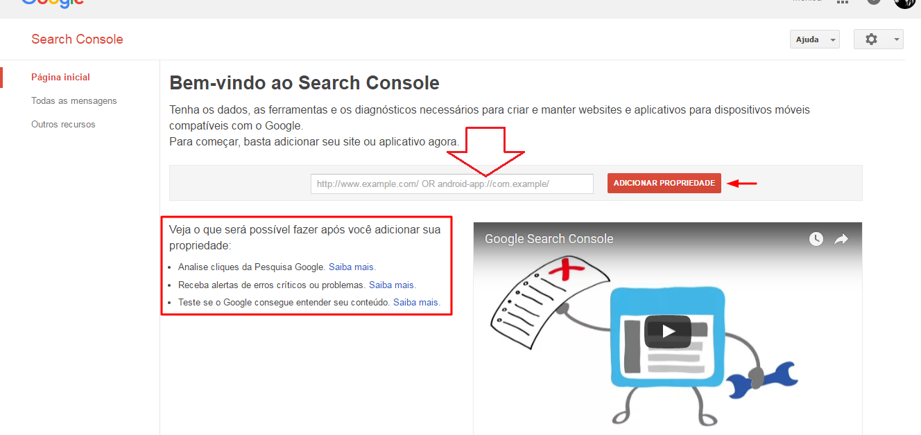 search console - google tools