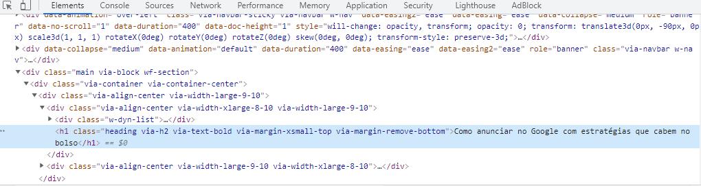 Anatomia SEO: tags de cabeçalho HTML (h1 a h6)