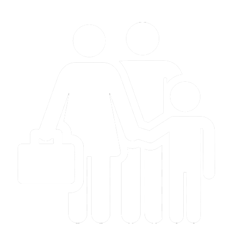 image of family of migrants