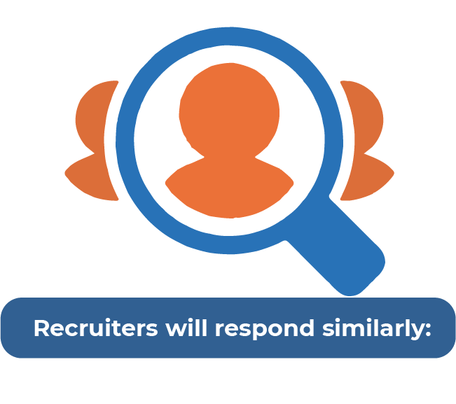 graphic of recruiters searching for applicants