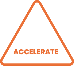 Icon of our accelerate program