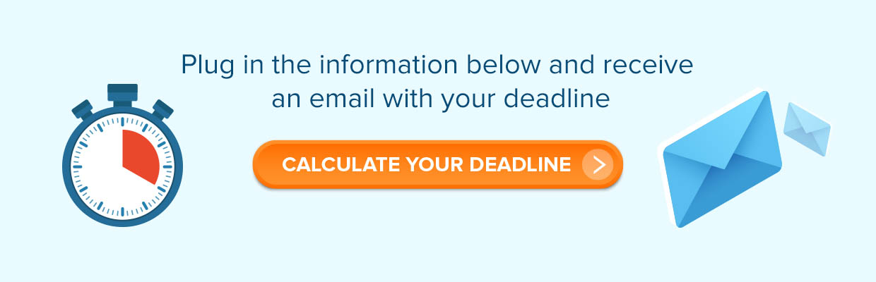 calculate your NTO deadline