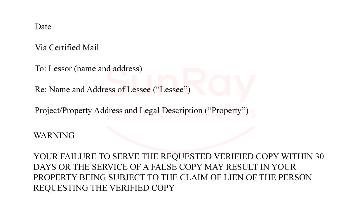 Demand a copy of the lease