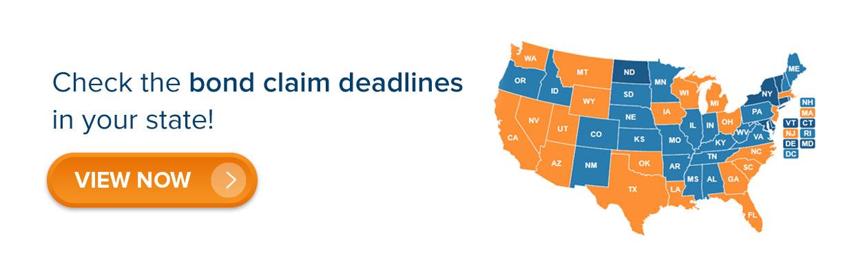 bond claim deadlines
