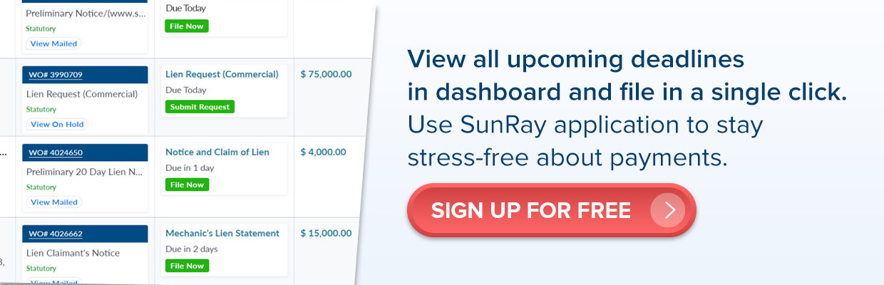 SunRay application sign up