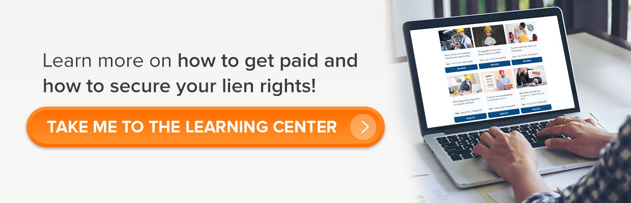 secure your lien rights